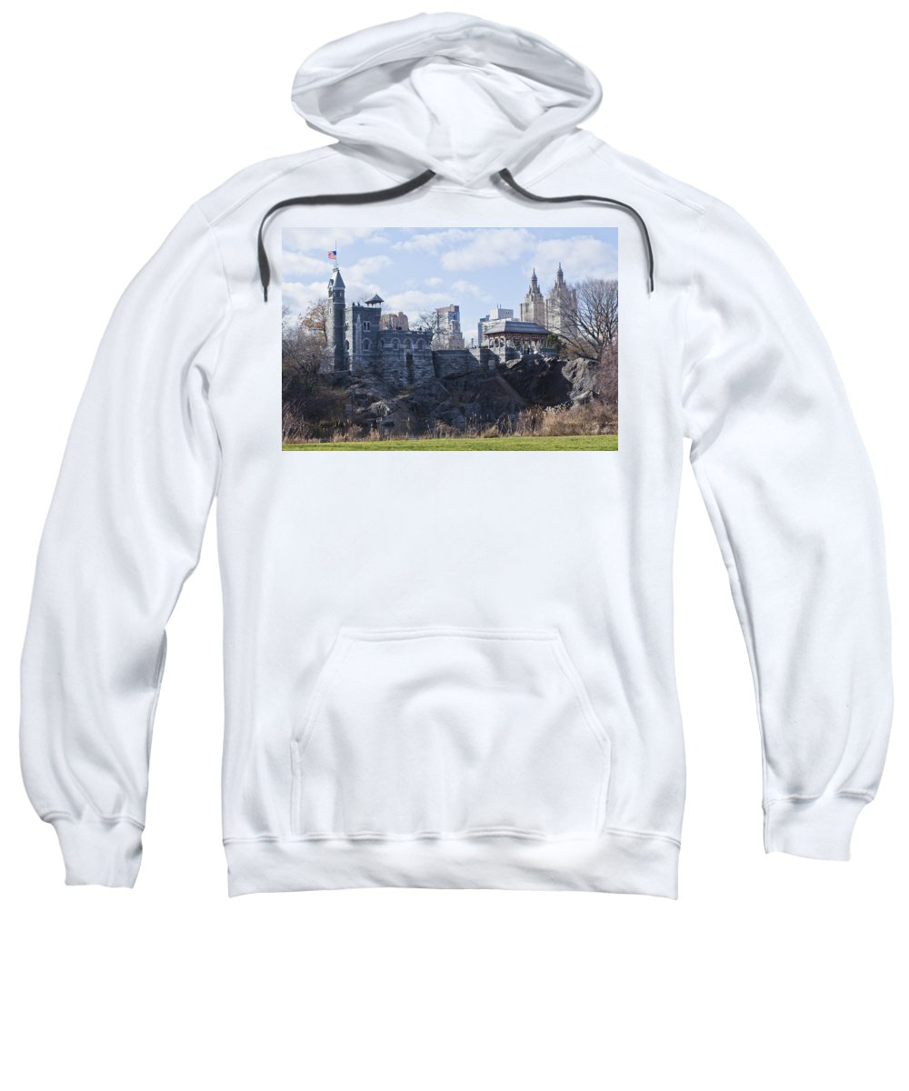 Park Sweatshirt featuring the photograph Central Park Castle by Theodore Jones