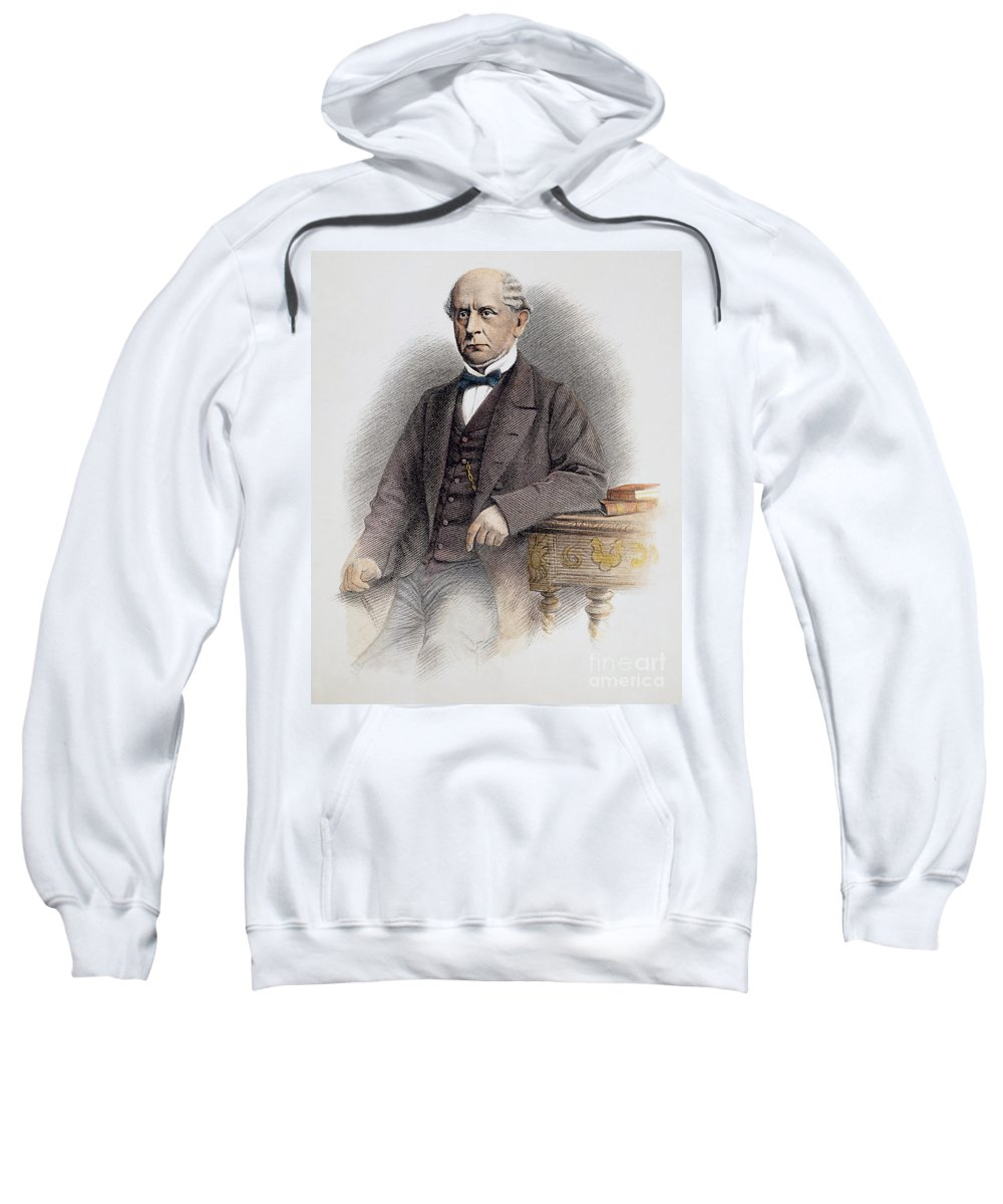 19th Century Sweatshirt featuring the photograph Charles Francis Adams by Granger