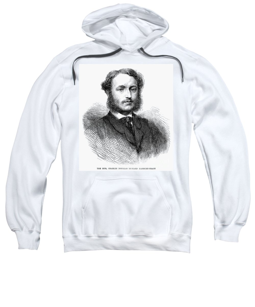 1865 Sweatshirt featuring the photograph Charles Hanbury-tracy by Granger