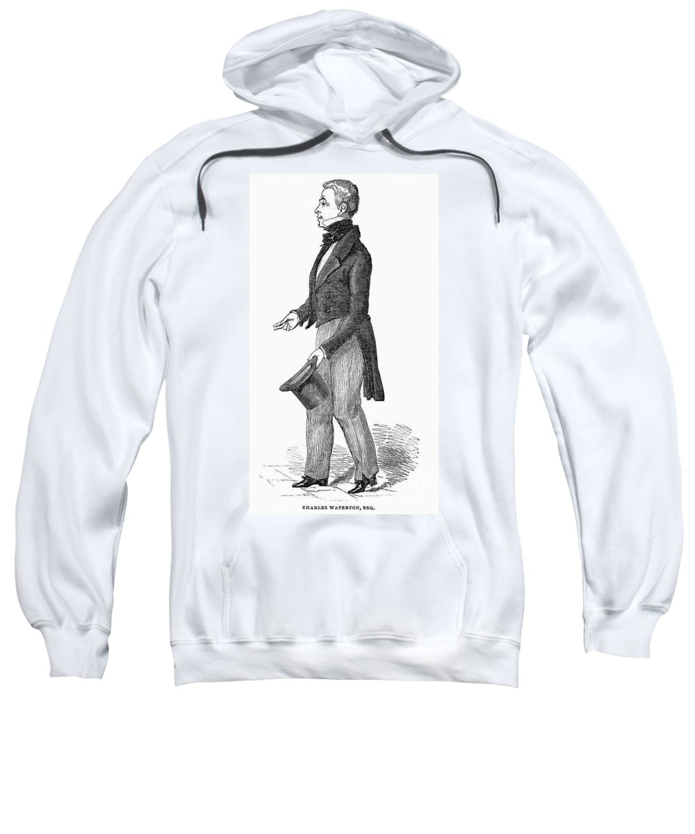 1844 Sweatshirt featuring the photograph Charles Waterton (1782-1865) by Granger
