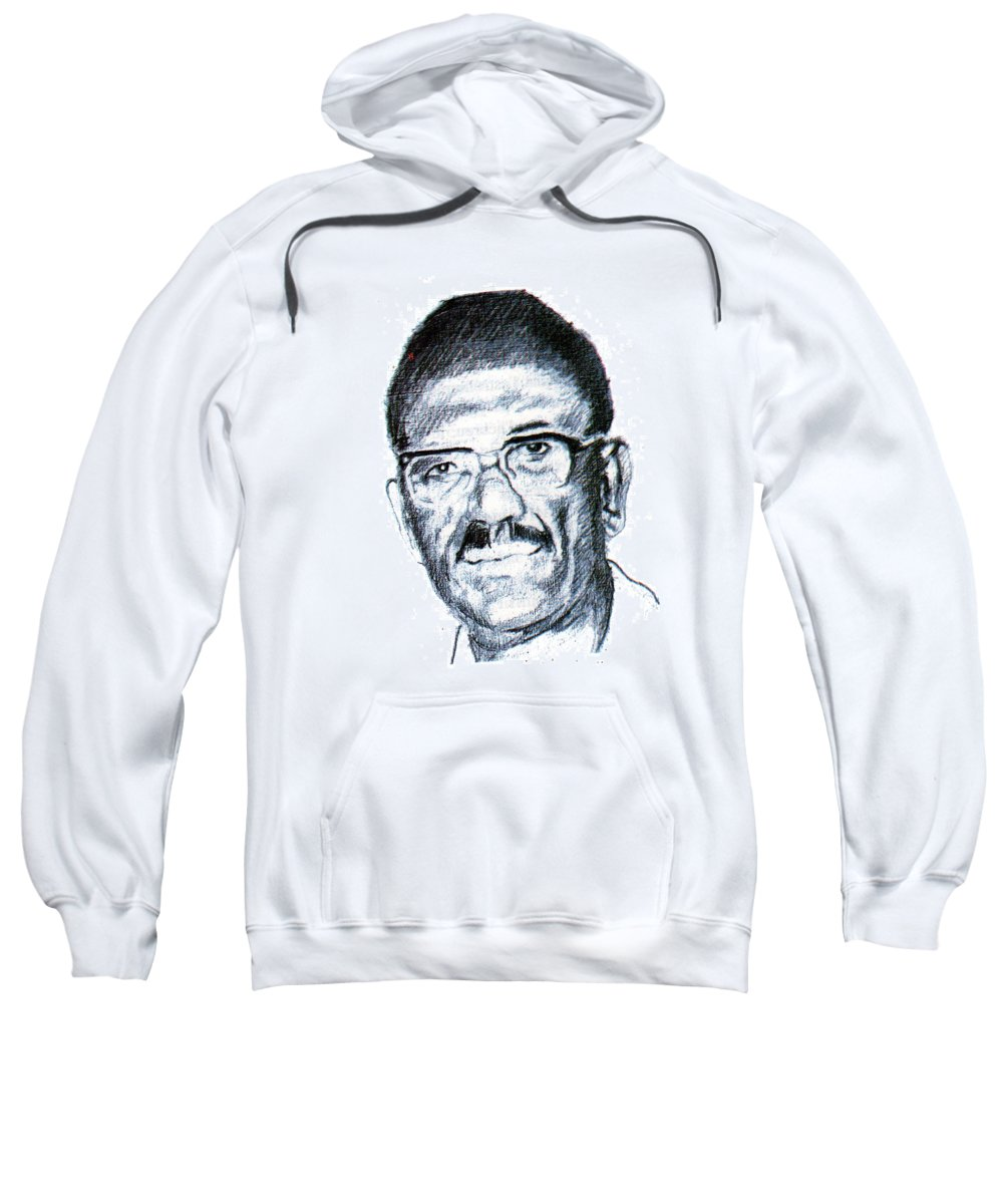 Portraits Sweatshirt featuring the painting Cheikh Anta Diop by Emmanuel Baliyanga