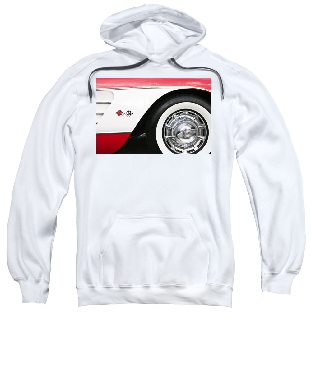 Chevrolet Sweatshirt featuring the photograph Chevrolette Corvette Sting Ray Convertible by Glenn Gordon