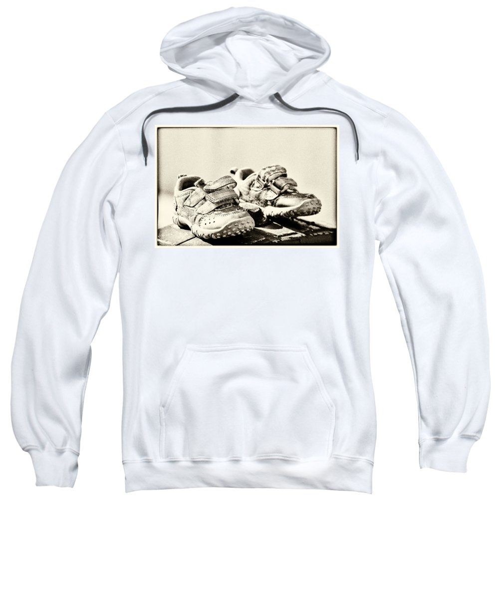 Childrens Sweatshirt featuring the photograph Children's Trainers by Hakon Soreide