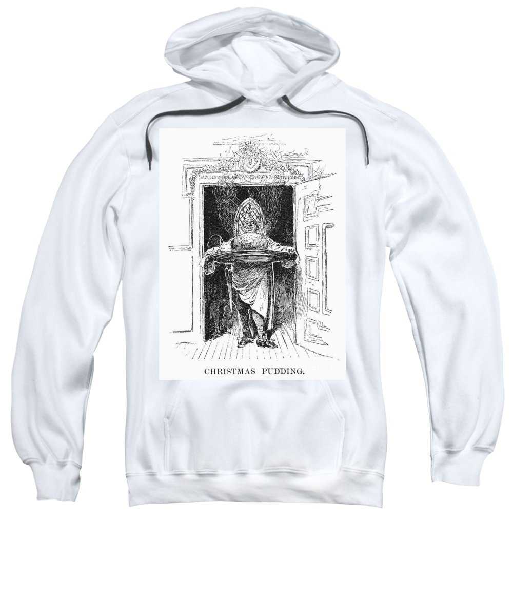 1882 Sweatshirt featuring the photograph Christmas Pudding, 1882 by Granger