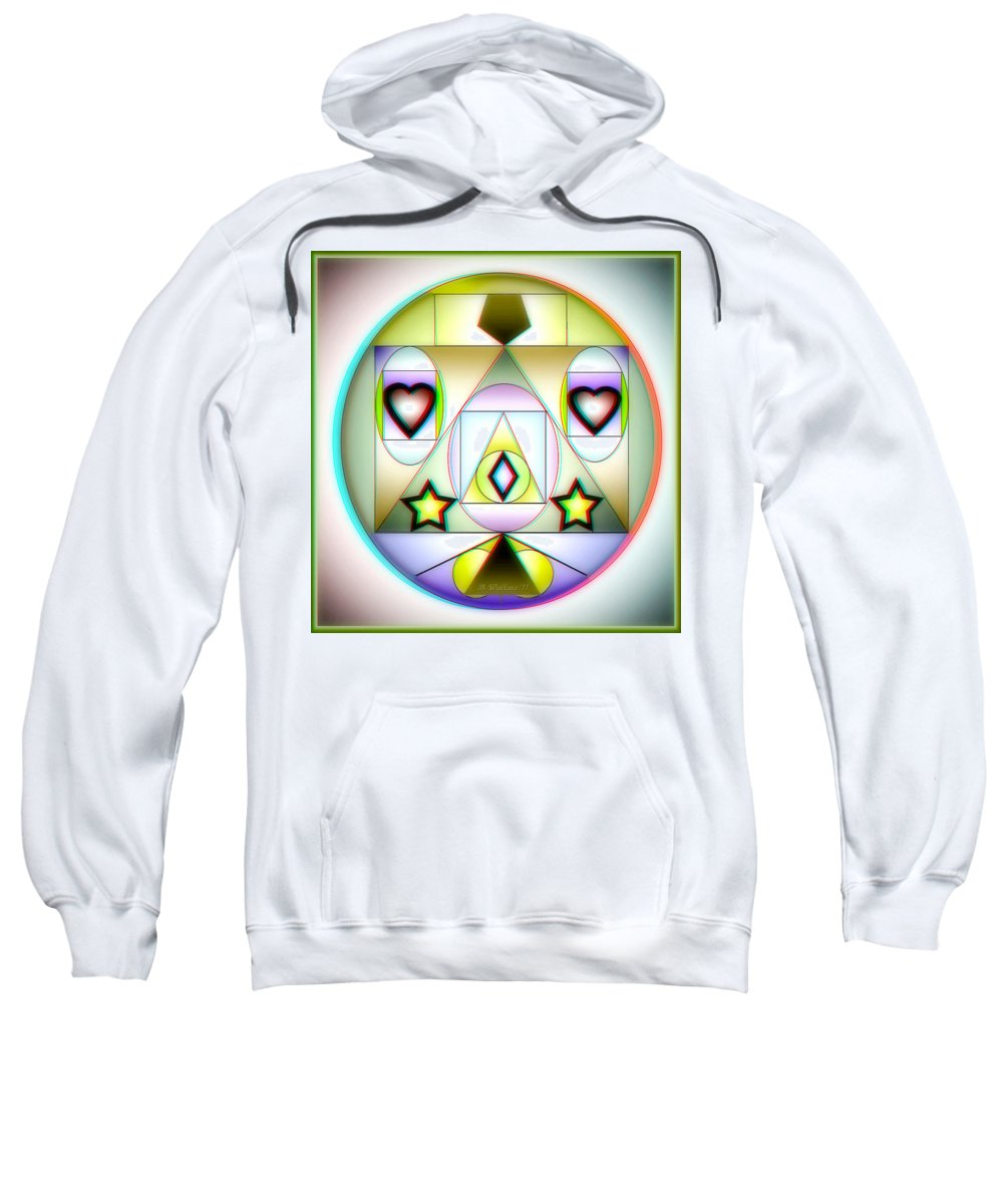 Brian Wallace Sweatshirt featuring the digital art Christmas Tree - Red And Cyan 3d Glasses Required by Brian Wallace