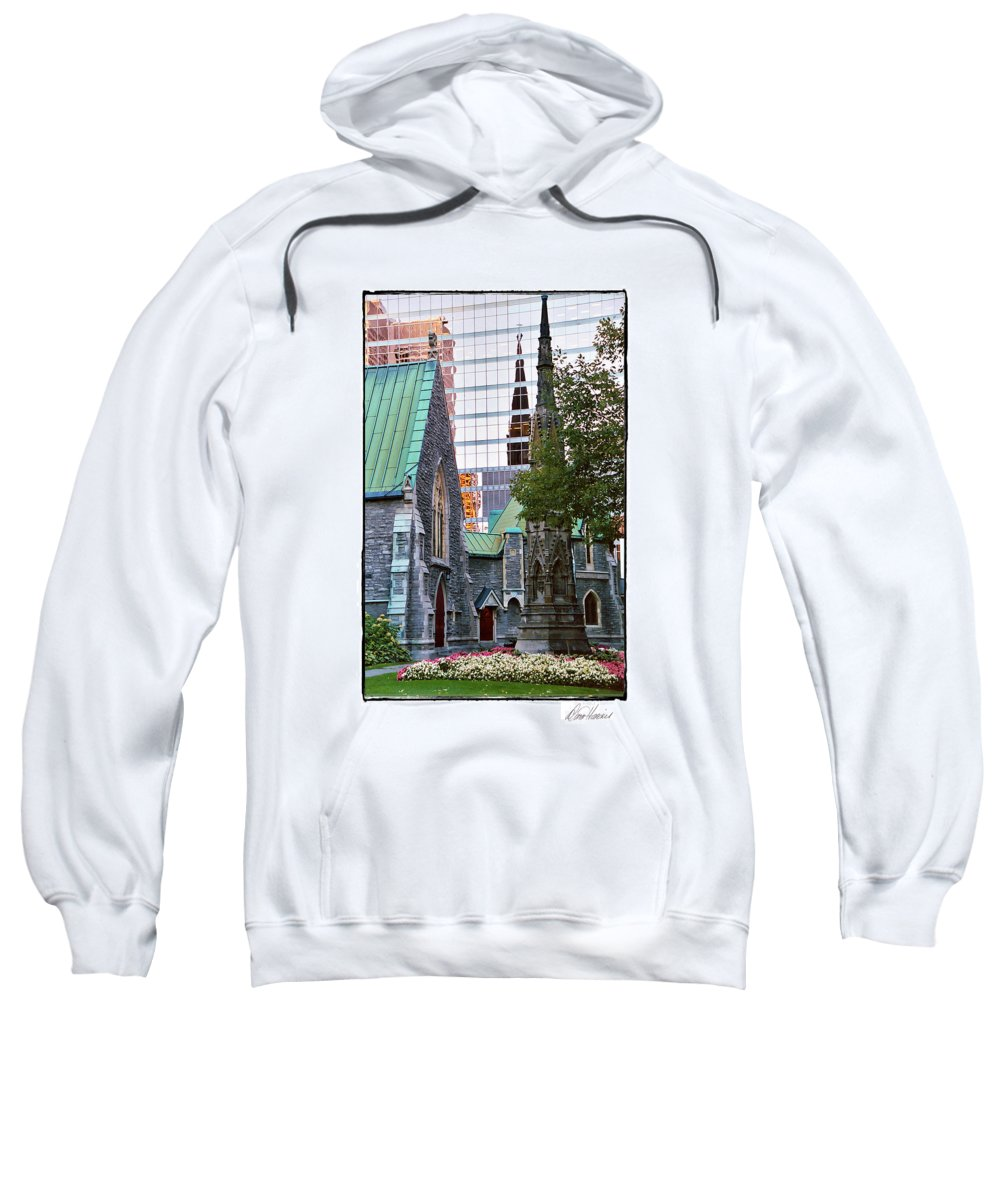 Church Sweatshirt featuring the photograph Church Reflections by Diana Haronis
