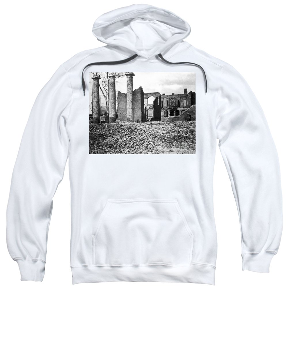 1865 Sweatshirt featuring the photograph Civil War: Columbia Ruins by Granger