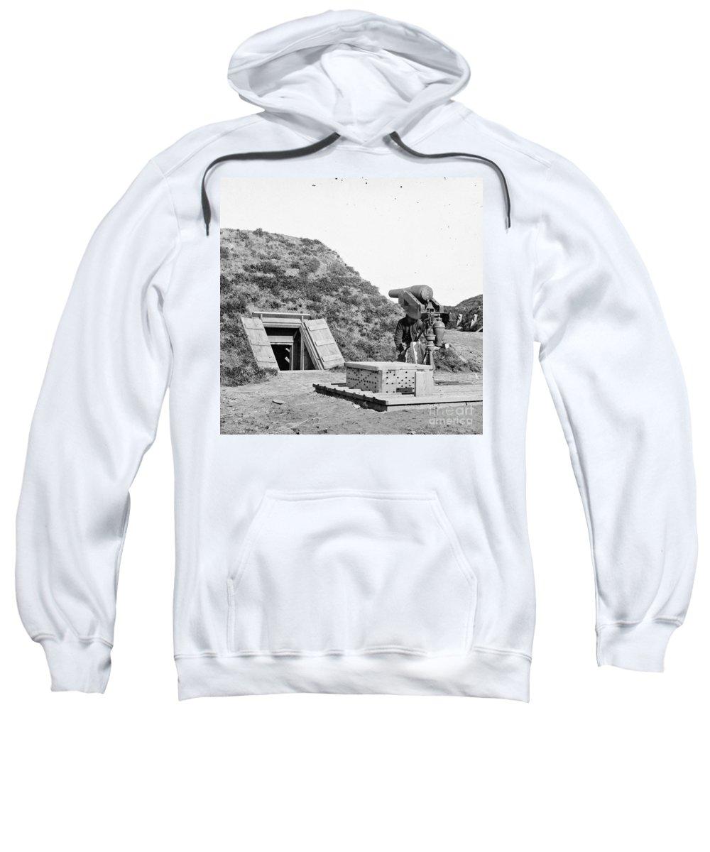 1865 Sweatshirt featuring the photograph Civil War: Drewrys Bluff by Granger