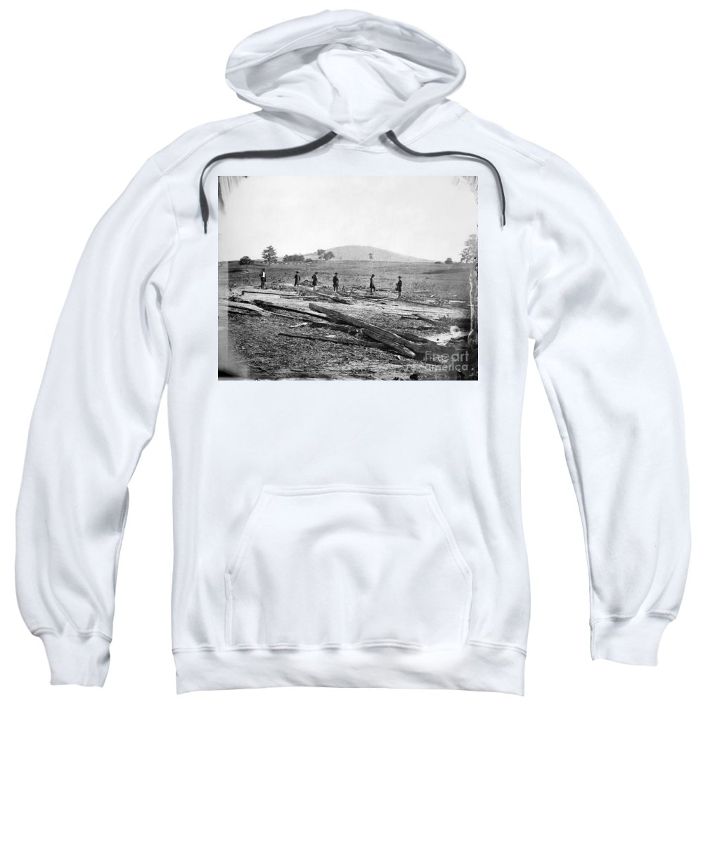 1862 Sweatshirt featuring the photograph Civil War: Graves, 1862 by Granger