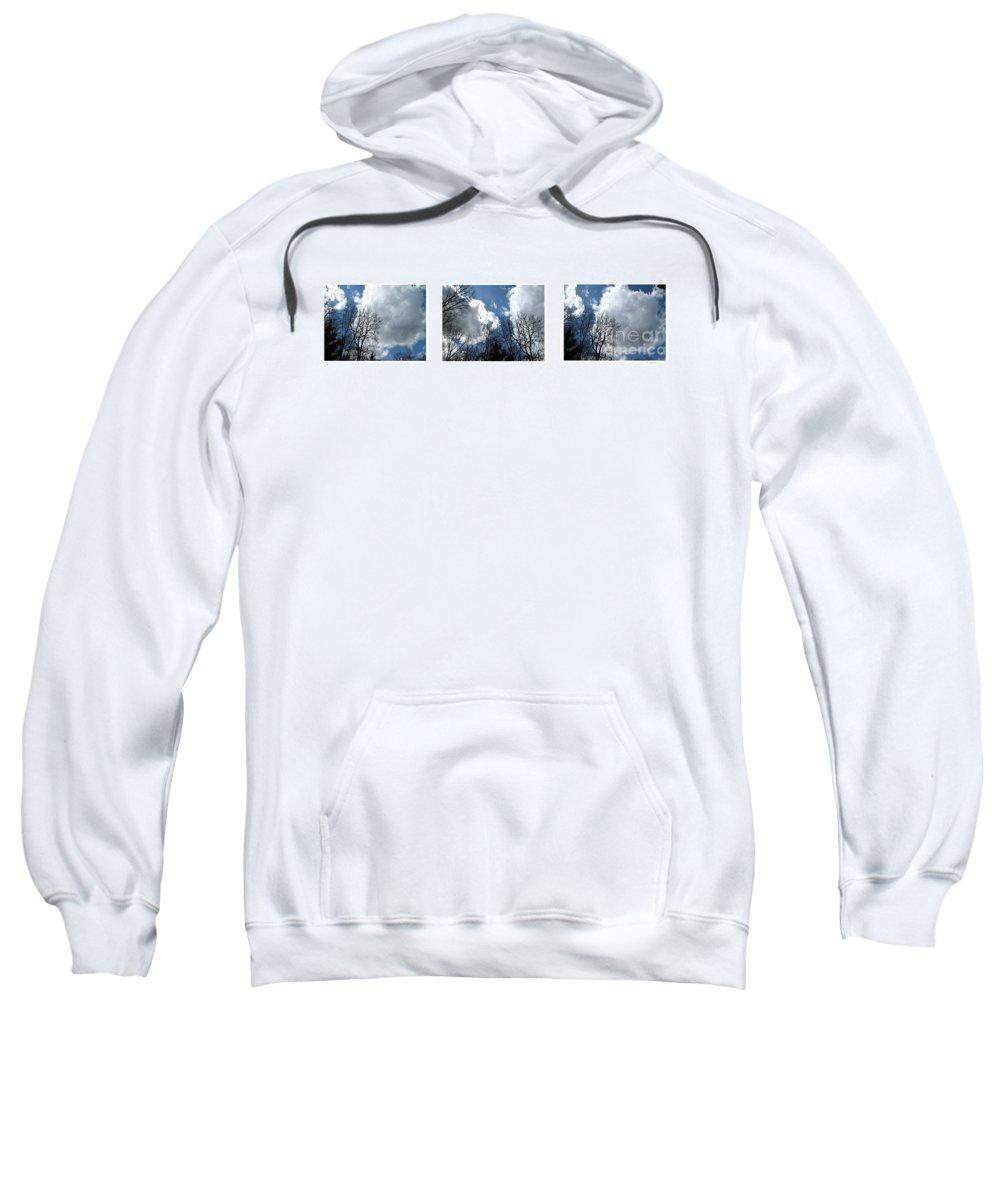 Clouds Sweatshirt featuring the photograph Cloud Panorama by Joan Minchak