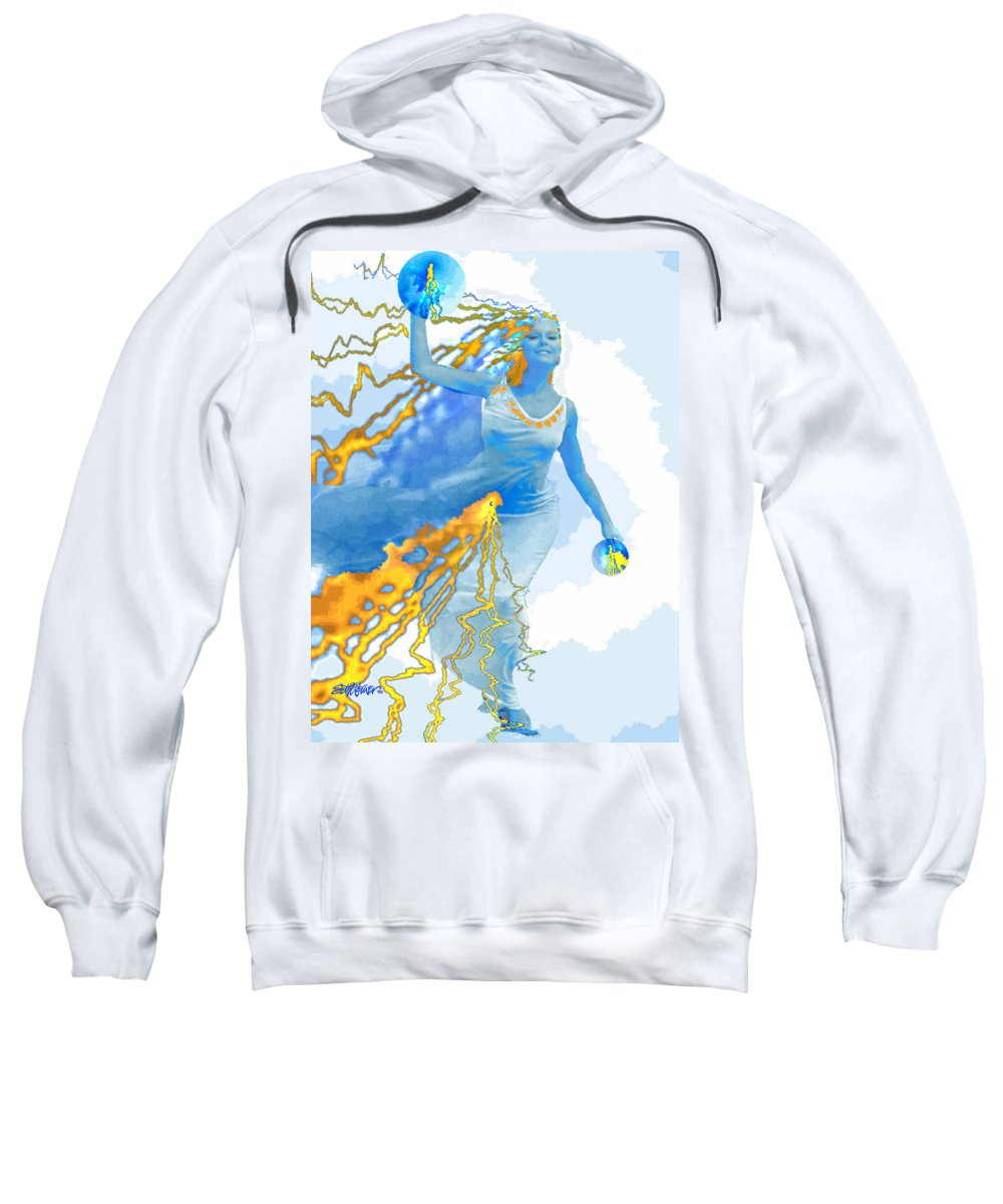 Cloudia Of The Clouds Sweatshirt featuring the digital art Cloudia Of The Clouds by Seth Weaver