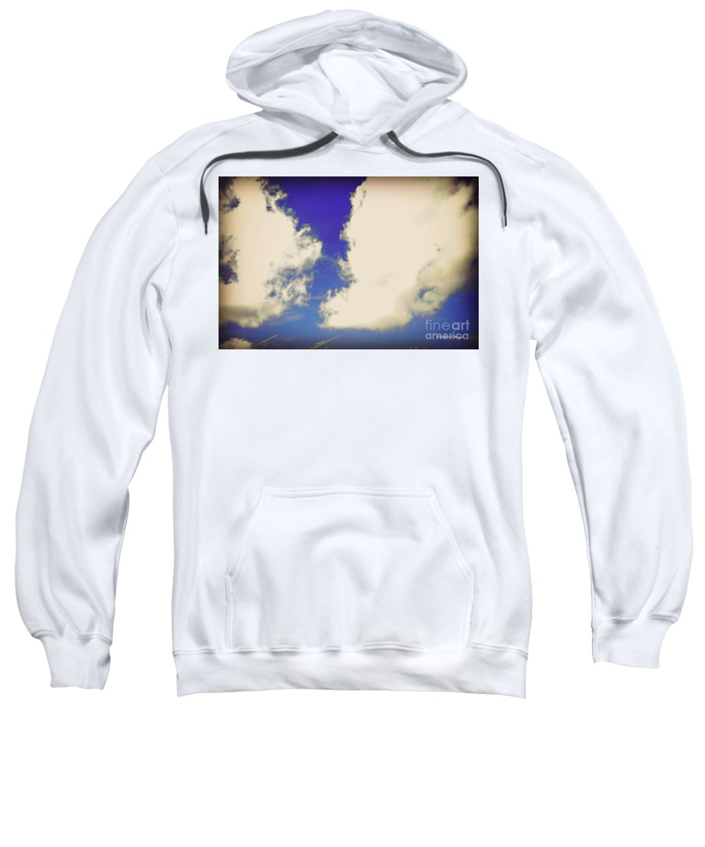Clouds Sweatshirt featuring the photograph Clouds-10 by Paulette B Wright