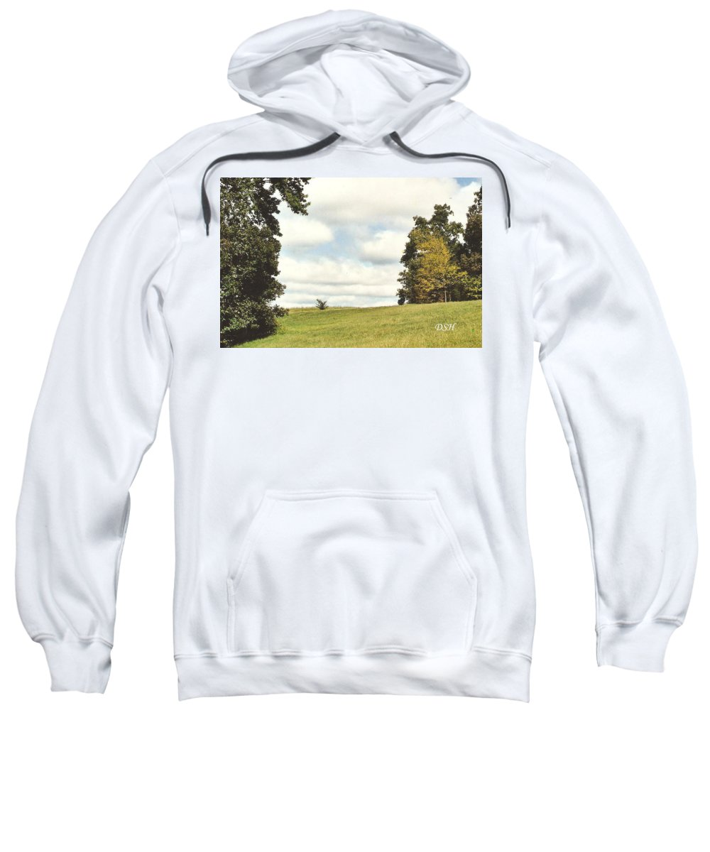 Trees Sweatshirt featuring the photograph Clouds In The Morning by Lee Hartsell