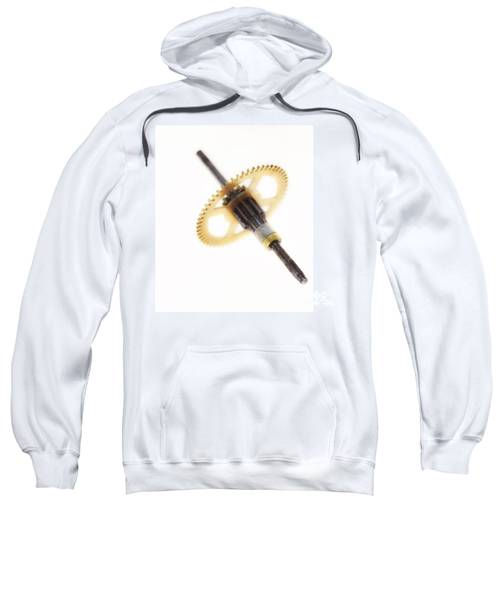 Background Sweatshirt featuring the photograph Cogwheel by Michal Boubin