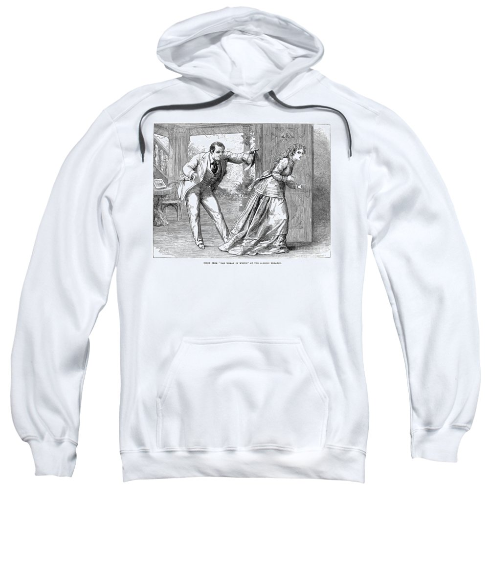 1871 Sweatshirt featuring the photograph Collins: Woman In White by Granger