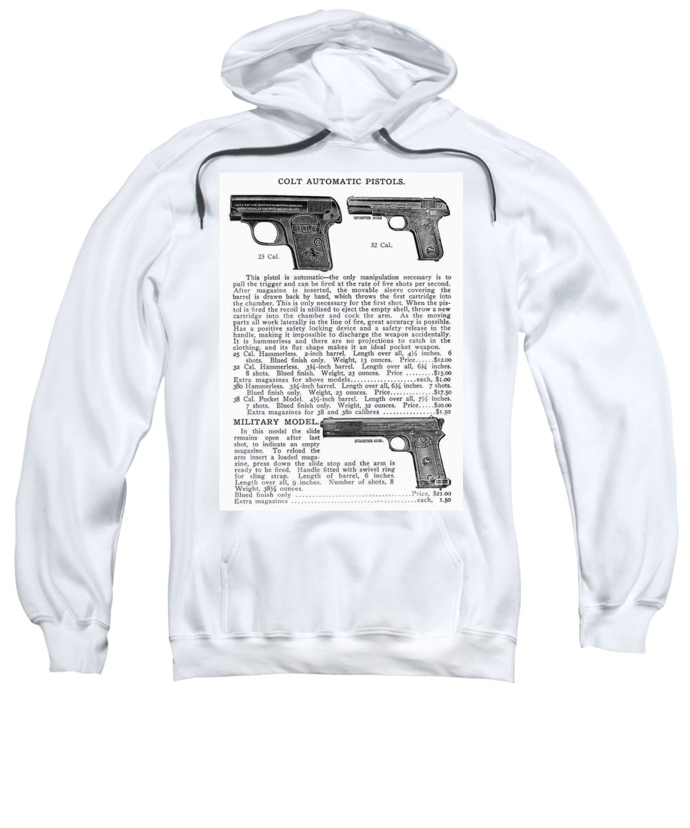 20th Century Sweatshirt featuring the photograph Colt Automatic Pistols by Granger