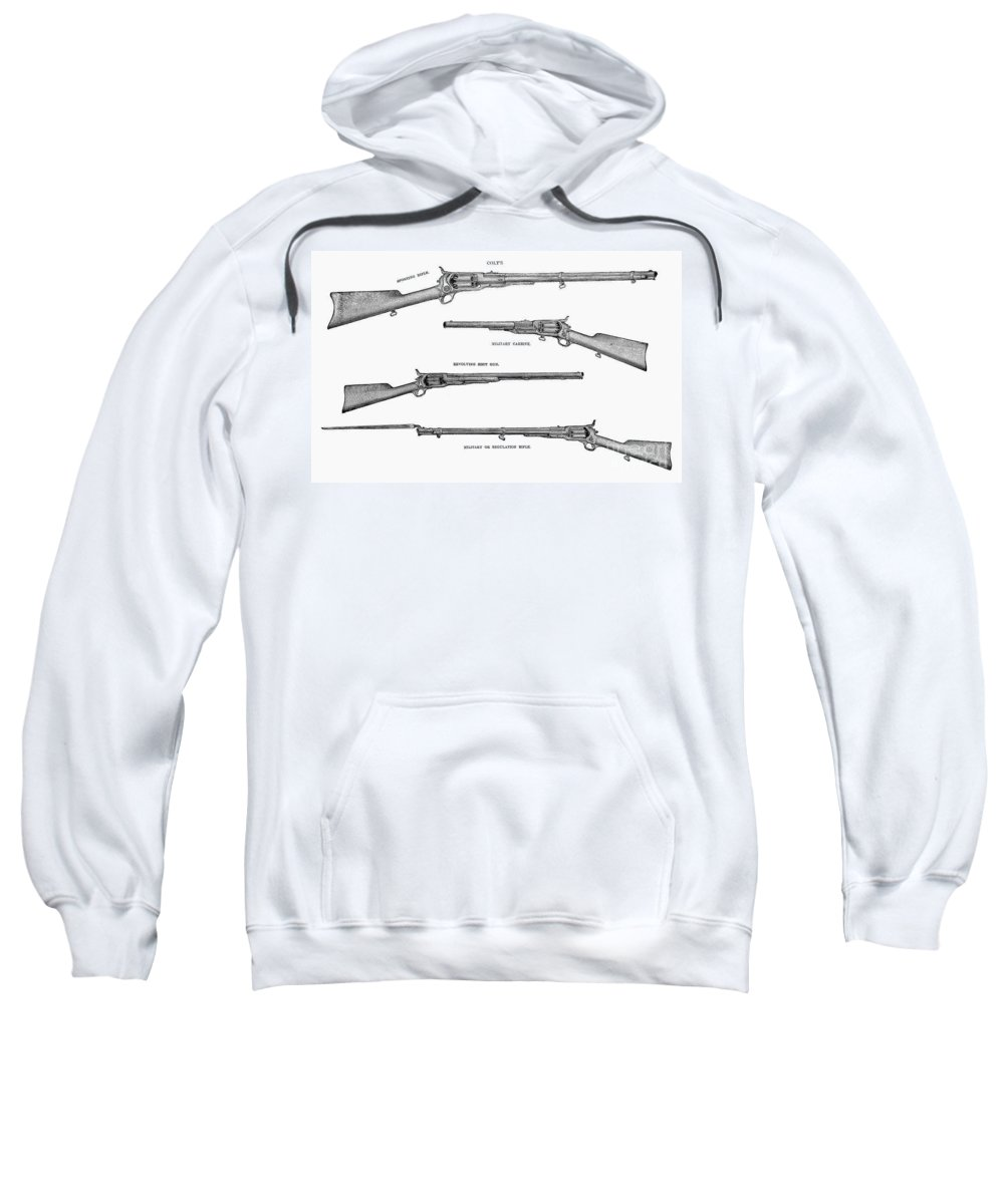 1867 Sweatshirt featuring the photograph Colt Weapons, 1867 by Granger