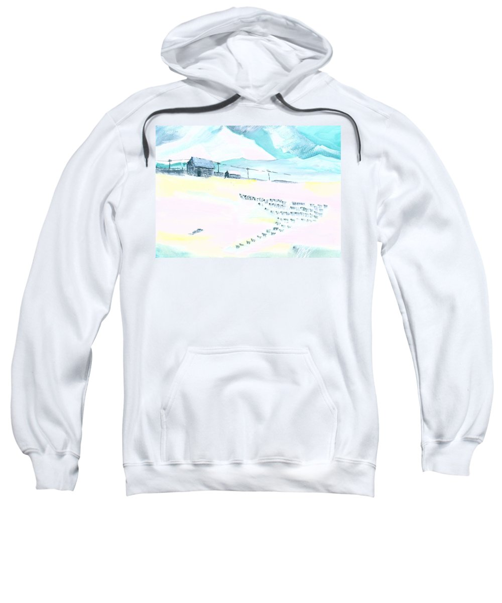 Landscape Sweatshirt featuring the painting Coming Home by Anil Nene