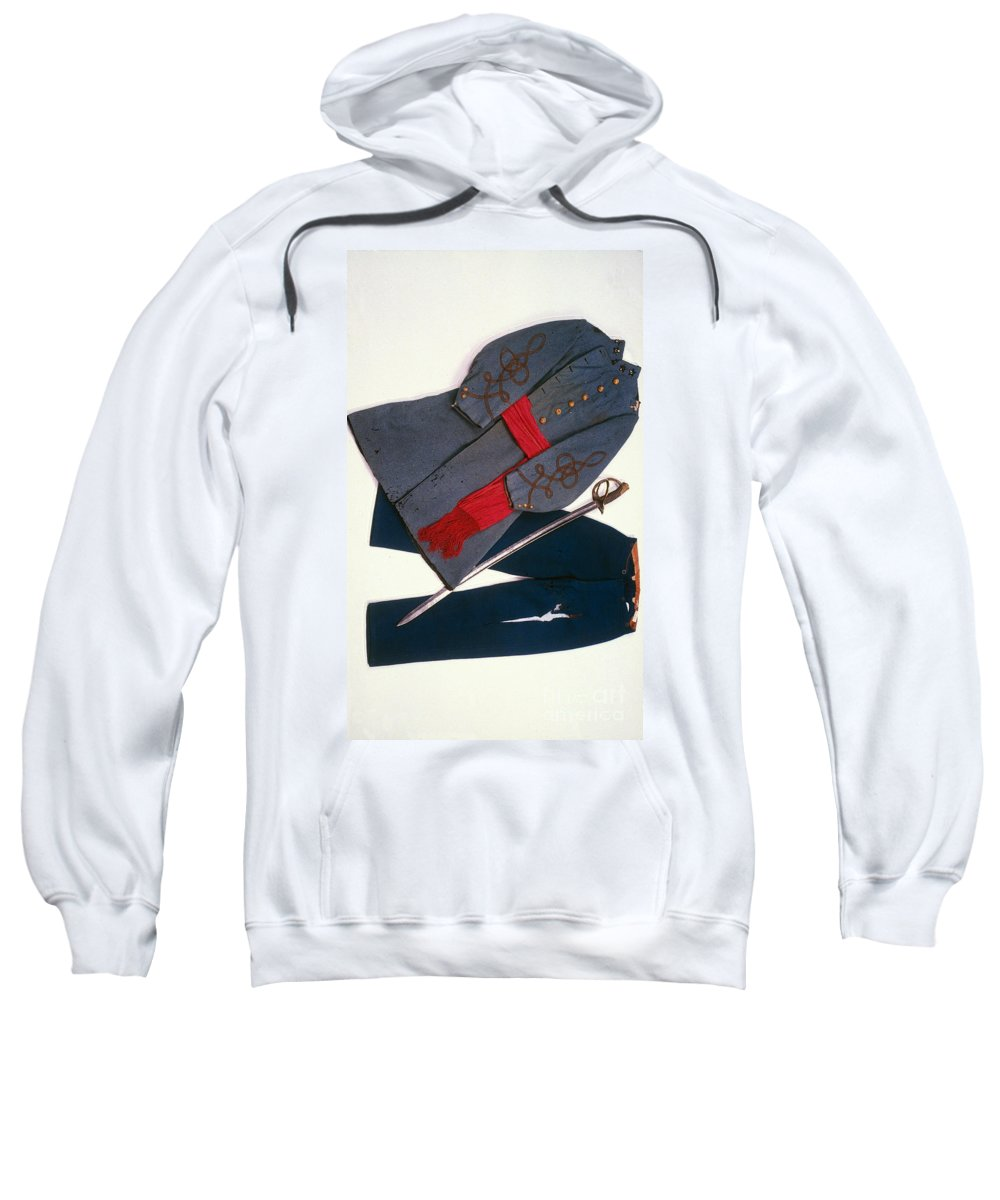 1863 Sweatshirt featuring the photograph Confederate Uniform by Granger
