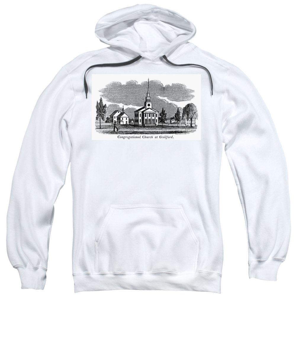 1836 Sweatshirt featuring the photograph Connecticut: Church, 1836 by Granger