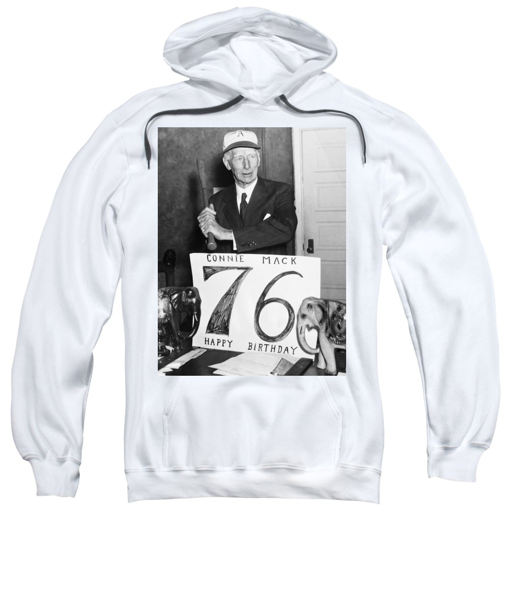 1955 Sweatshirt featuring the photograph Connie Mack (1862-1956) by Granger