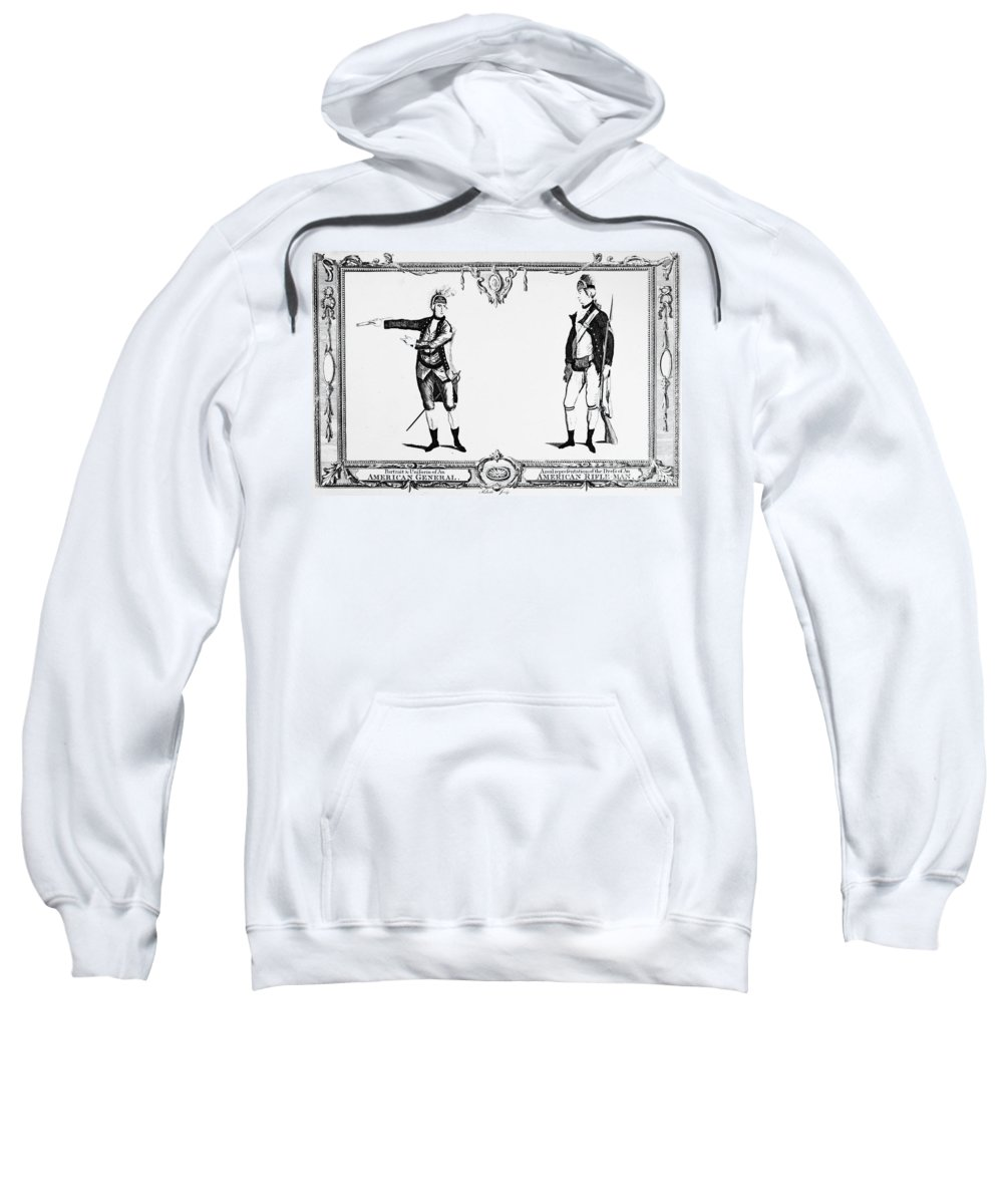 1783 Sweatshirt featuring the photograph Continental Army by Granger