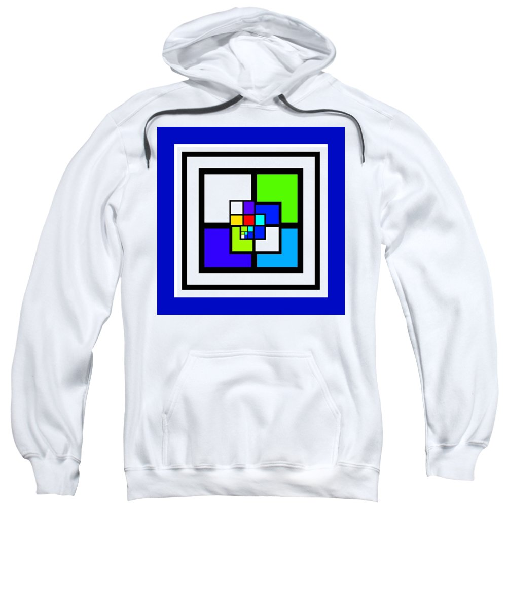 Cote Sweatshirt featuring the painting Cool Blue by Charles Stuart