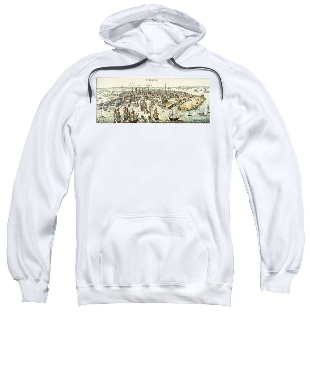 1700 Sweatshirt featuring the photograph Copenhagen, C1700 by Granger