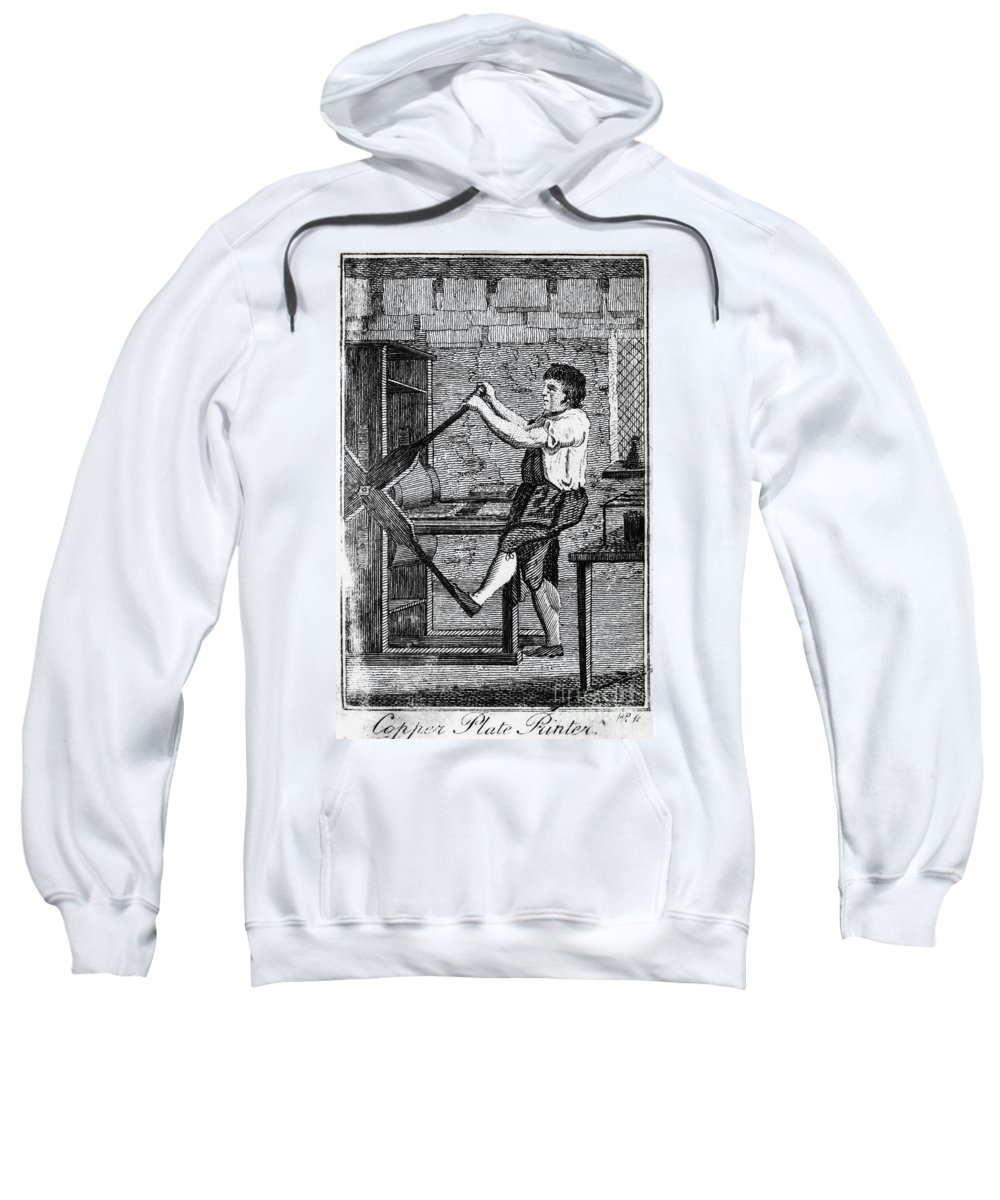 1807 Sweatshirt featuring the photograph Copper Plate Printer, 1807 by Granger