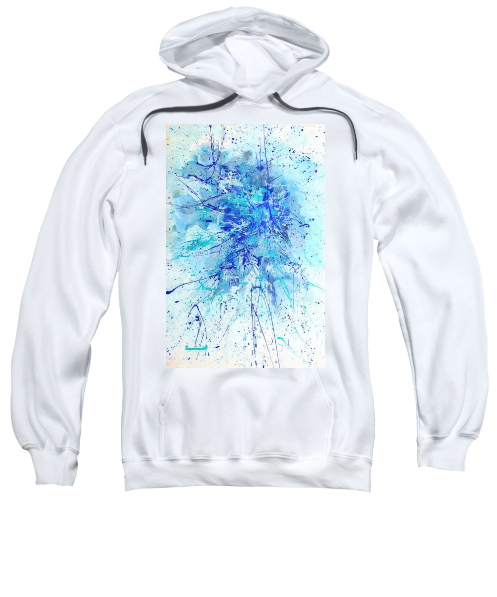 Australian Art Sweatshirt featuring the painting Corroboree 2 by Giro Tavitian