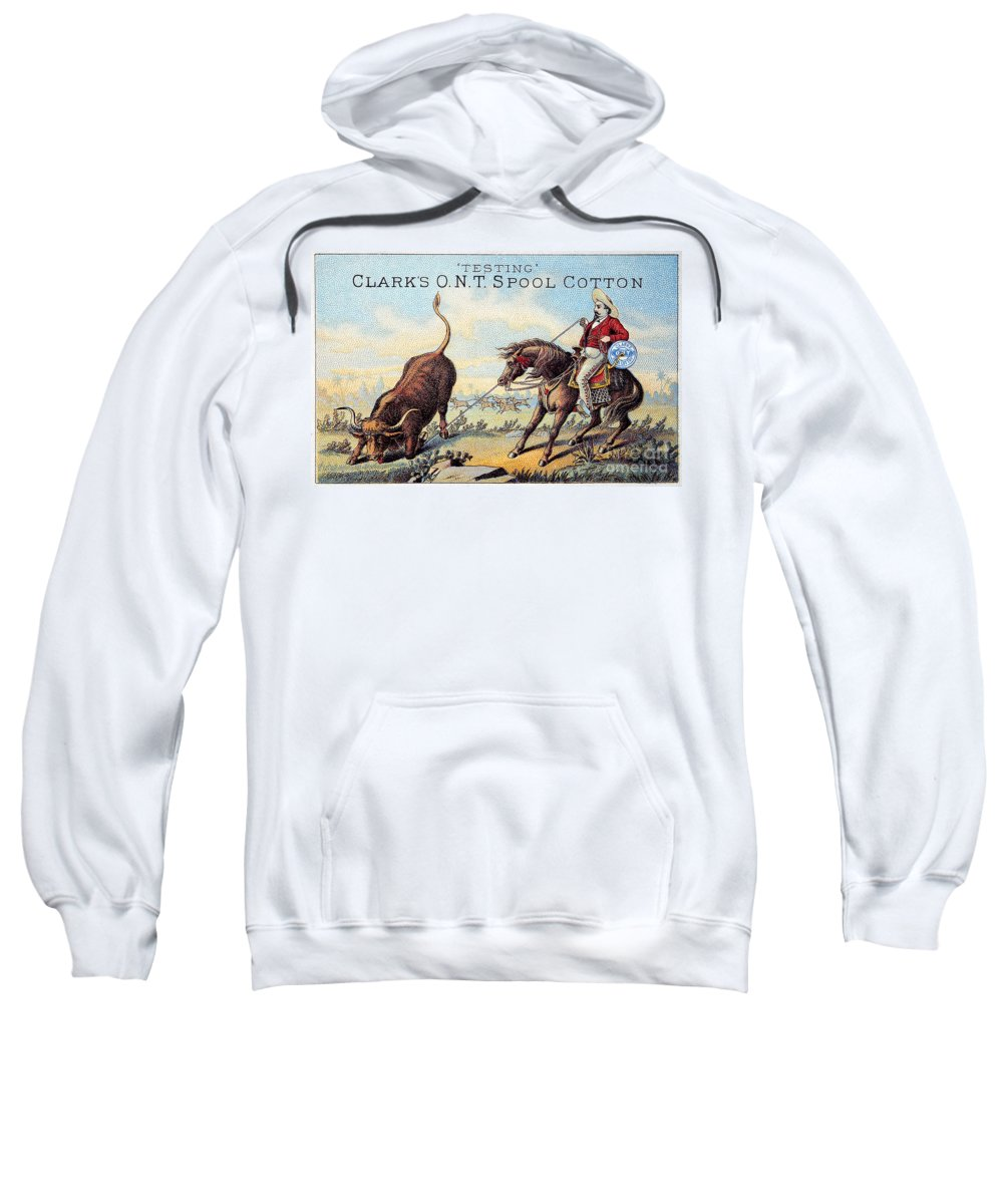 1880s Sweatshirt featuring the photograph Cotton Thread Trade Card by Granger