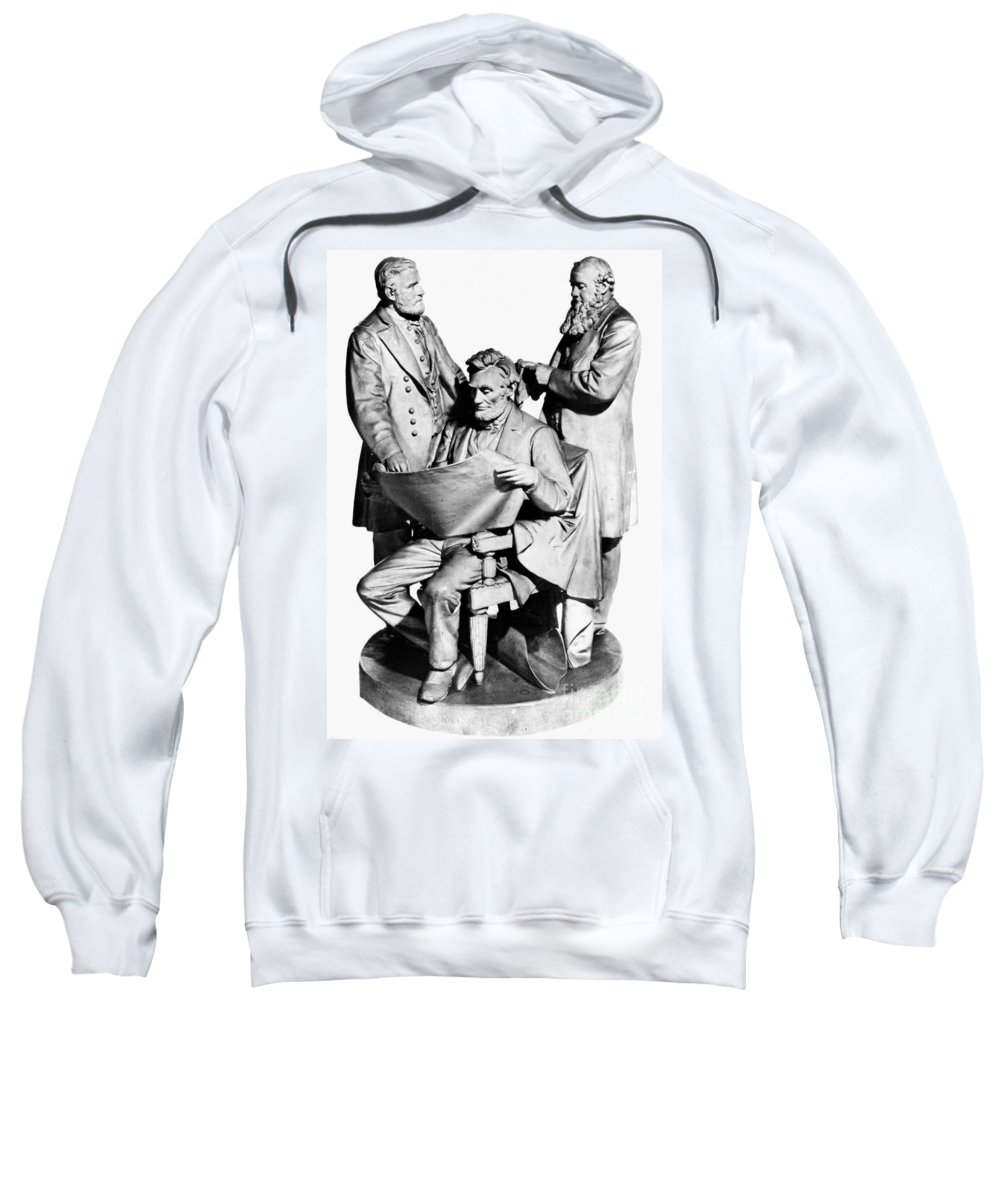 1868 Sweatshirt featuring the photograph Council Of War by Granger