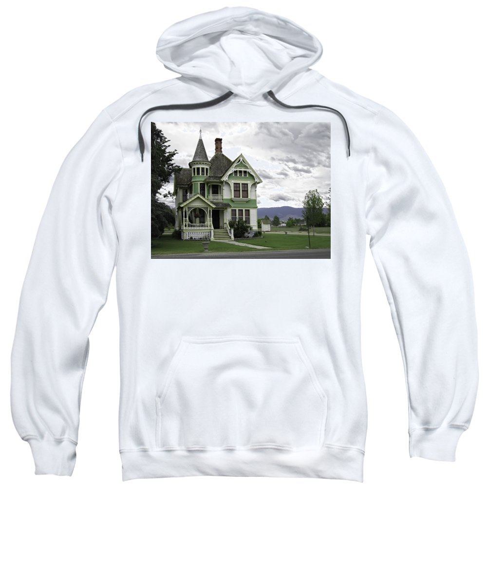 Victorian Sweatshirt featuring the photograph Country Victorian - Hamilton Montana by Daniel Hagerman