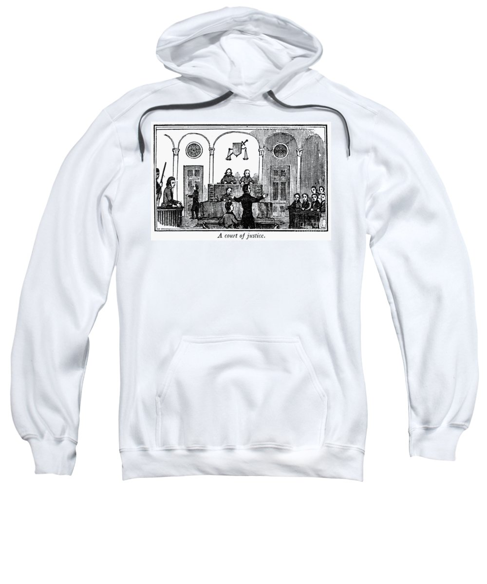 1842 Sweatshirt featuring the photograph Courtroom, 1842 by Granger