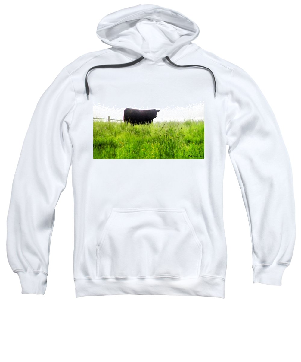 Cow Country Sweatshirt featuring the photograph Cow Country by Bill Cannon