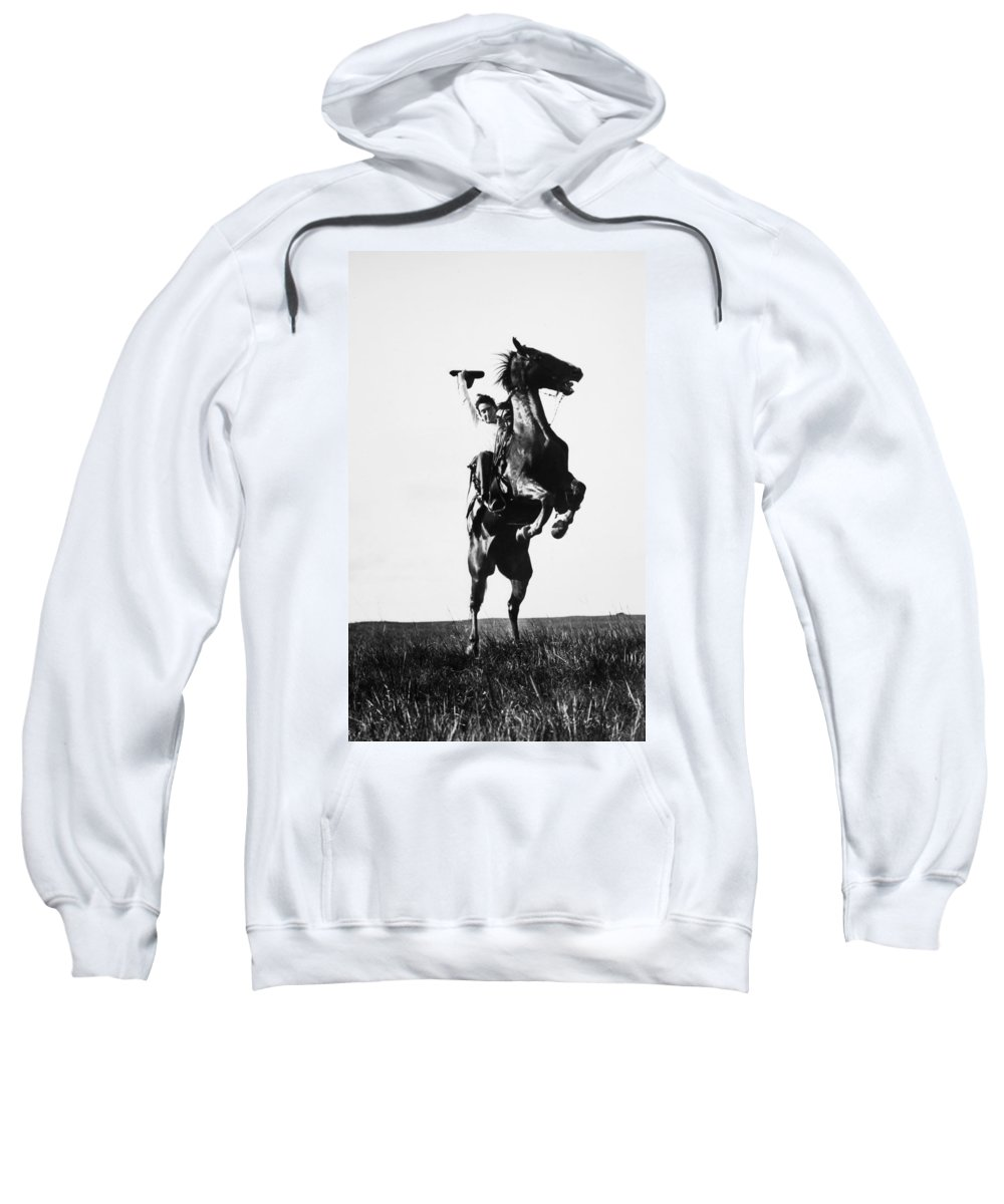 1909 Sweatshirt featuring the photograph Cowboys, 1909 by Granger