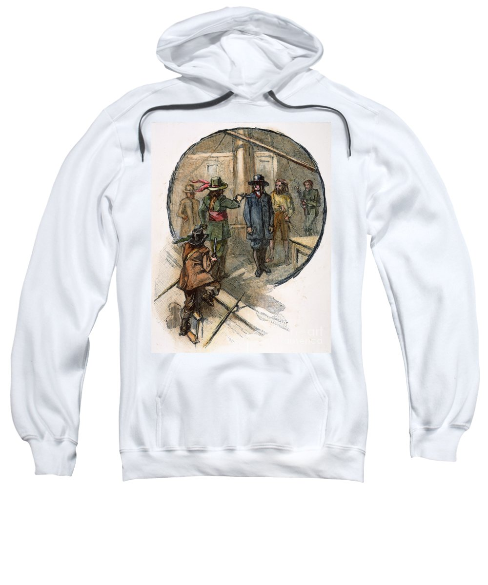 1677 Sweatshirt featuring the photograph Culpepers Rebellion, 1677 by Granger
