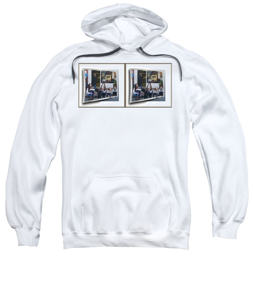 3d Sweatshirt featuring the photograph Curb Resting - Gently Cross Your Eyes And Focus On The Middle Image by Brian Wallace