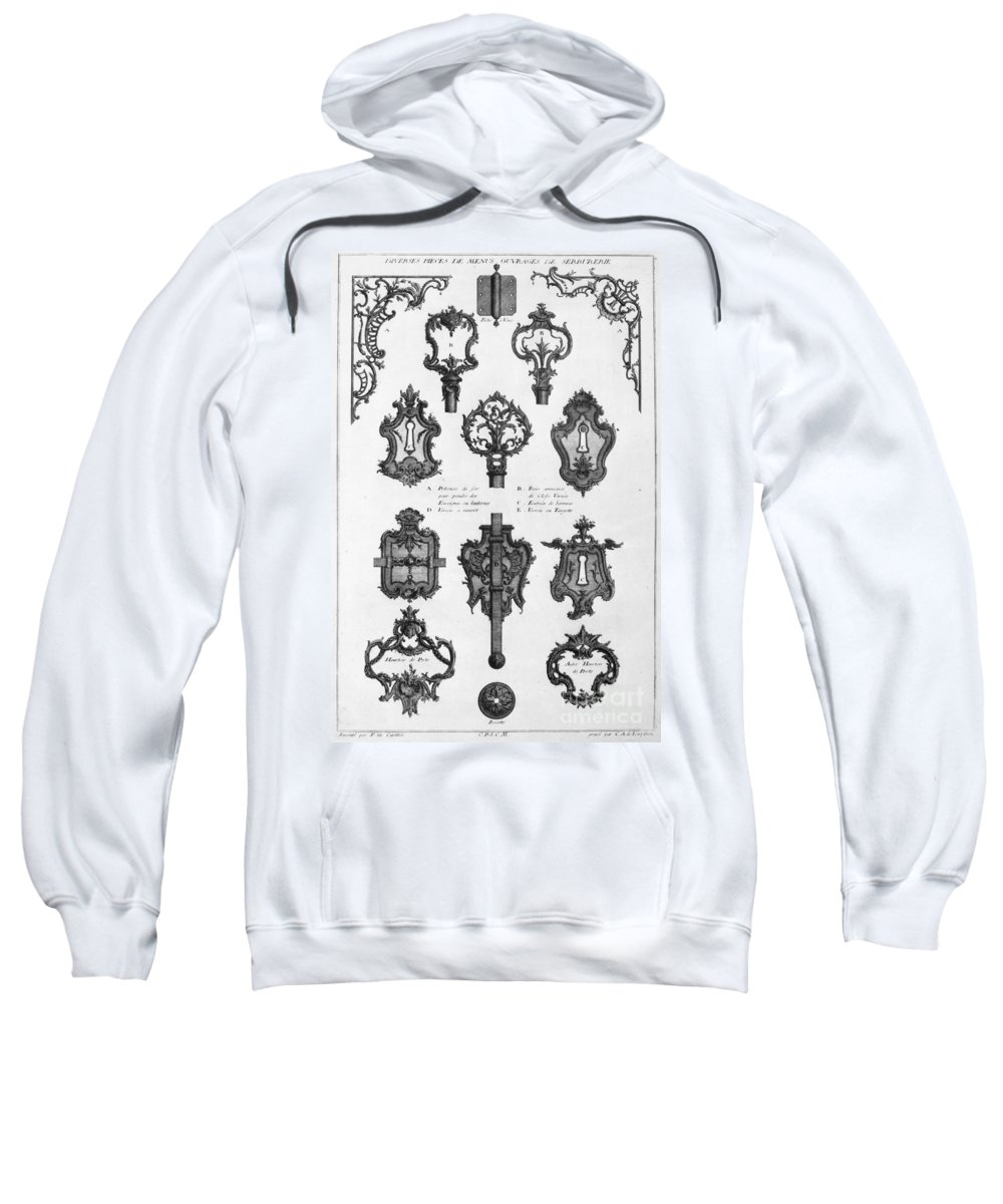 1750 Sweatshirt featuring the photograph Cuvilli�s: Locks And Keys by Granger