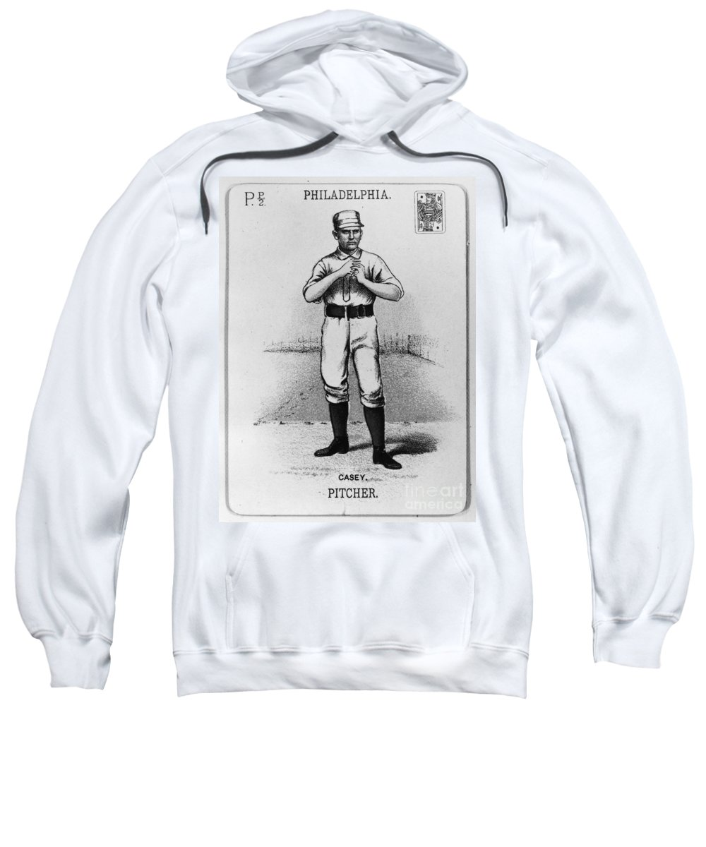 1888 Sweatshirt featuring the photograph Dan Casey (1862-1943) by Granger