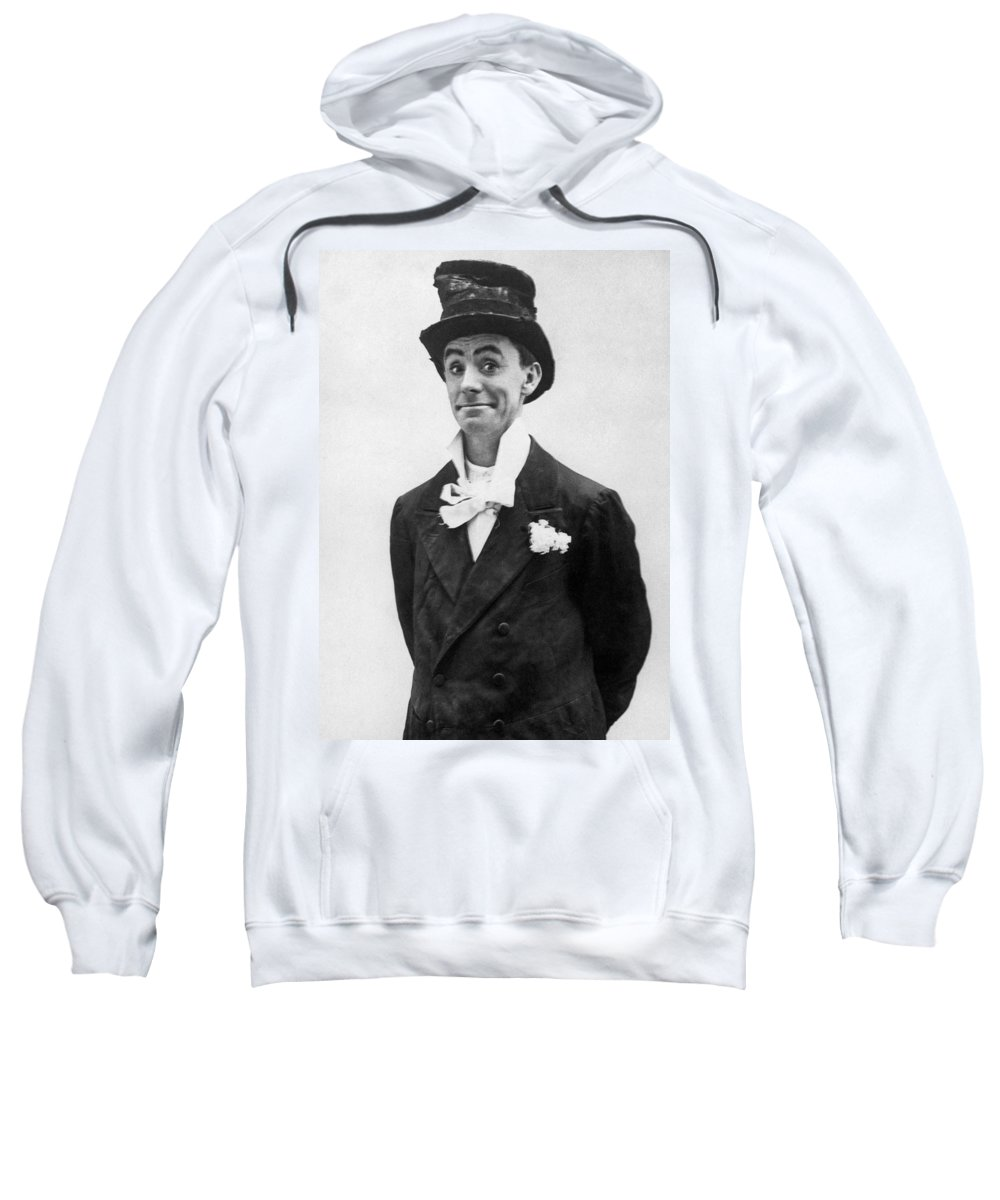19th Century Sweatshirt featuring the photograph Dan Leno (1860-1904) by Granger