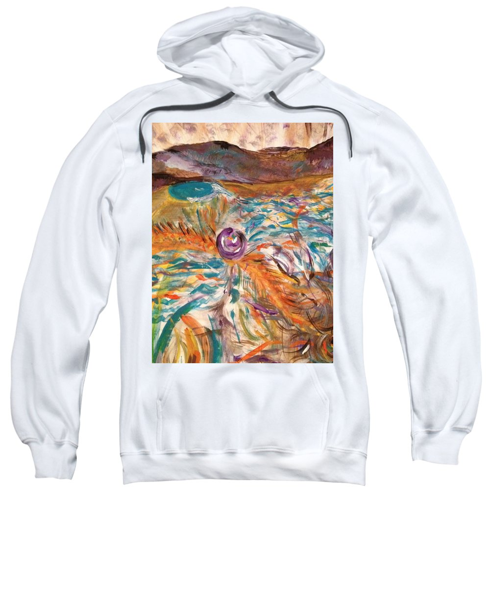 Elements Sweatshirt featuring the painting Dance Of The Elements by Dawn Richerson