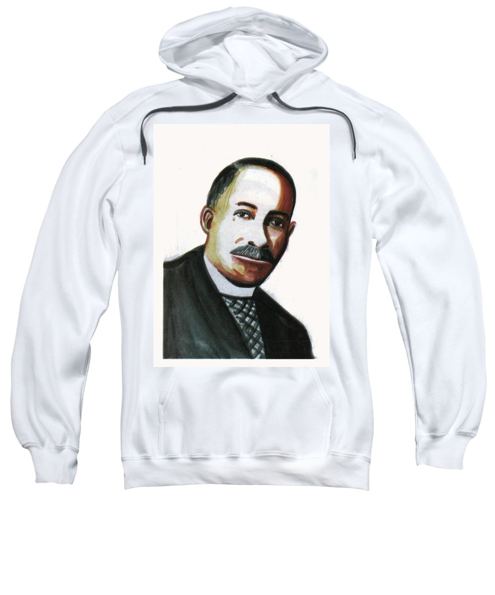 Portraits Sweatshirt featuring the painting Daniel Hale Williams by Emmanuel Baliyanga
