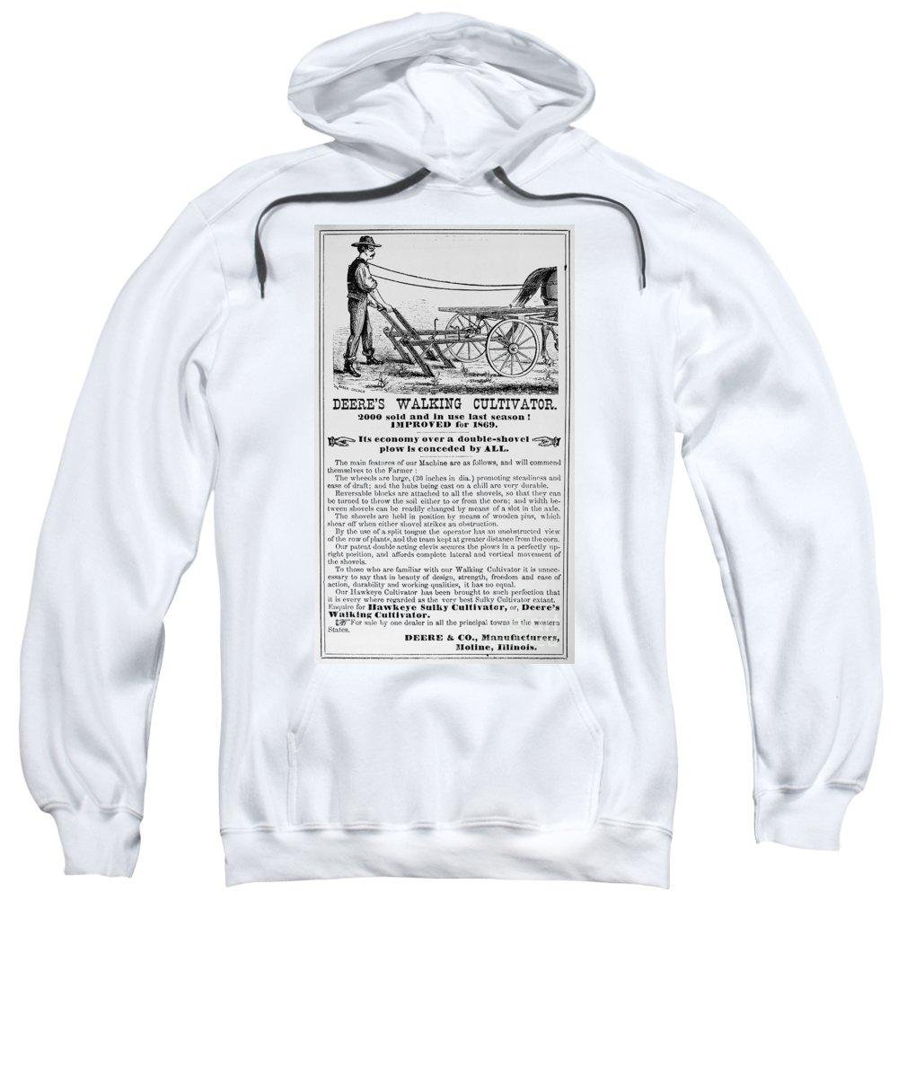 1869 Sweatshirt featuring the photograph Deere Plow, 1869 by Granger