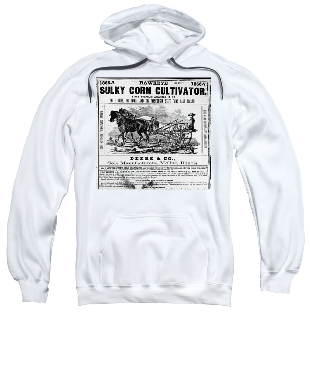 1866 Sweatshirt featuring the photograph Deere Plow, C1866 by Granger