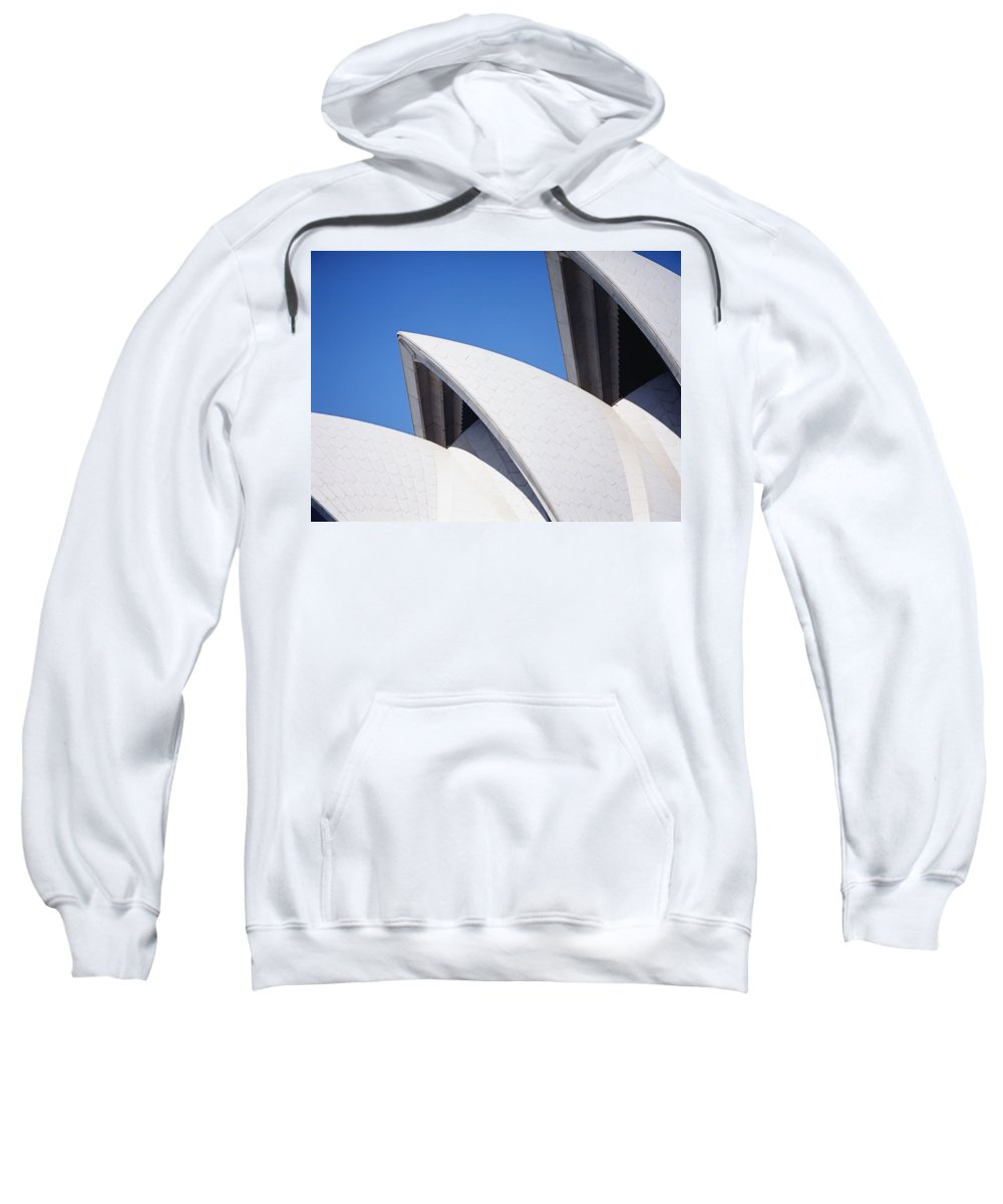 Urban Sweatshirt featuring the photograph Detail Of The Roof Of The Sydney Opera by Axiom Photographic