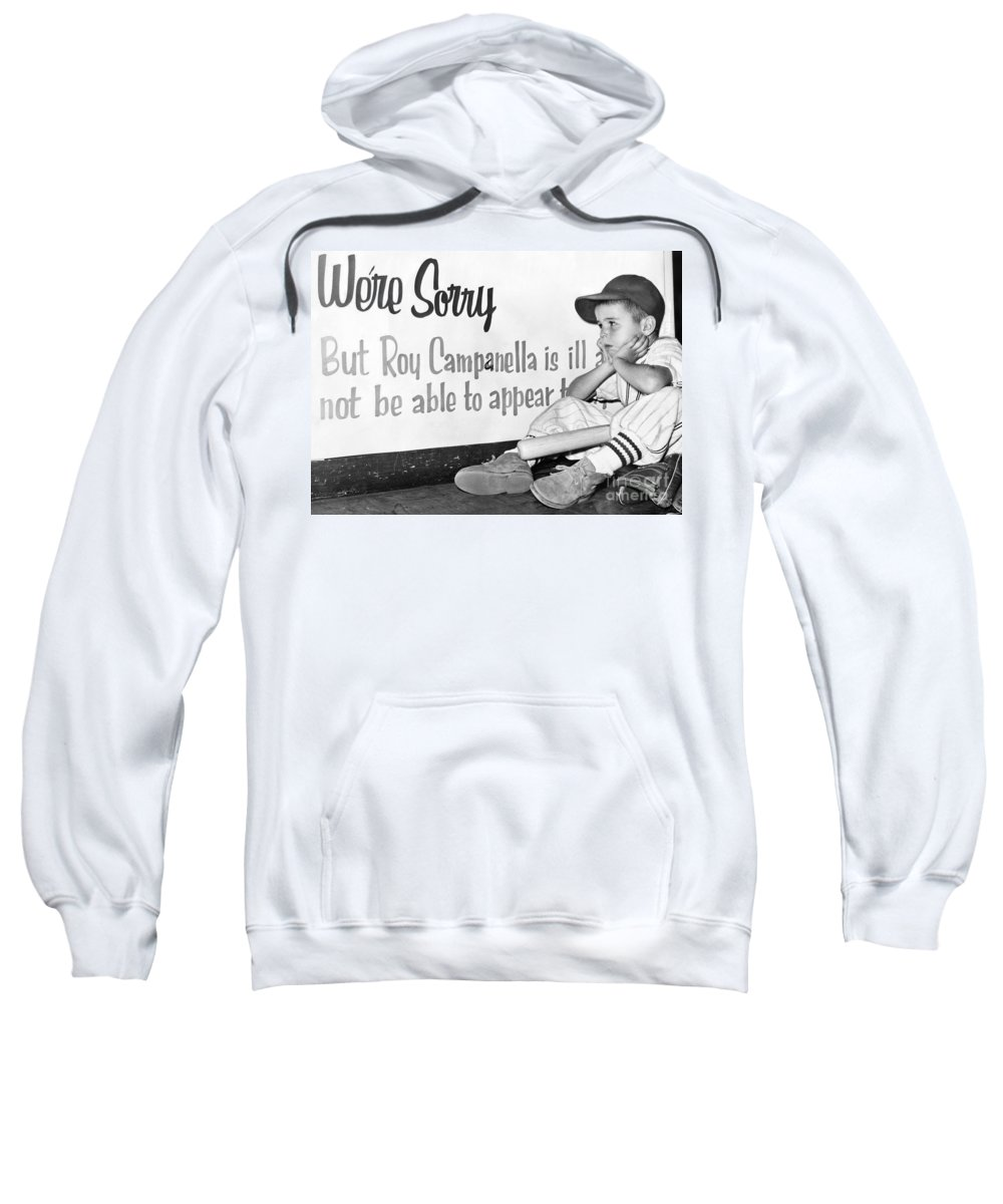 1957 Sweatshirt featuring the photograph Disappointed Boy, 1957 by Granger