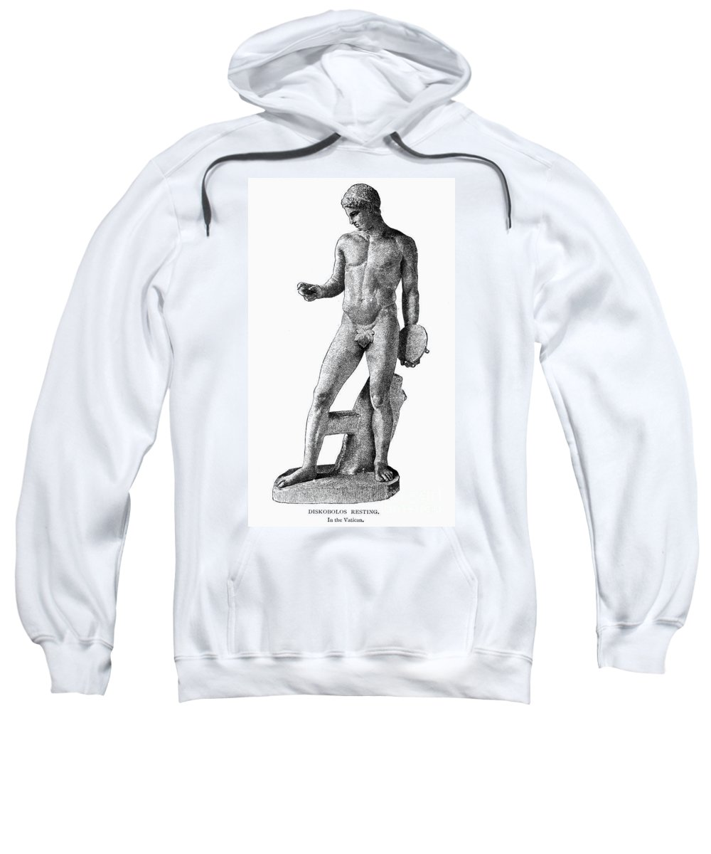 Athlete Sweatshirt featuring the photograph Discobolus Resting by Granger