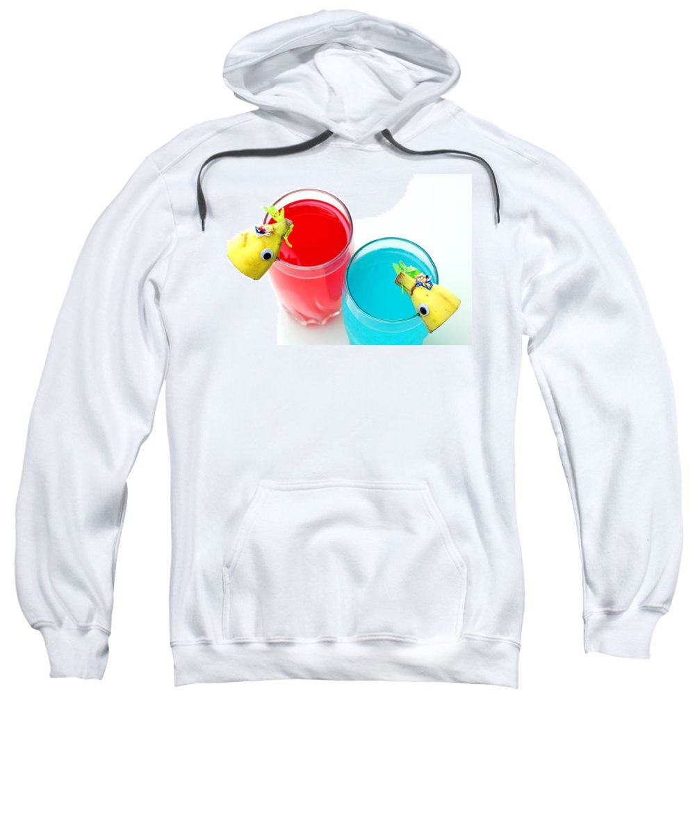 Dolphin Sweatshirt featuring the photograph Dolphin Surfing In Colorful Sea by Paul Ge