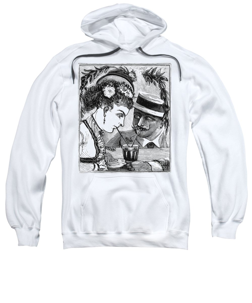 1875 Sweatshirt featuring the photograph Drinking, 1875 by Granger